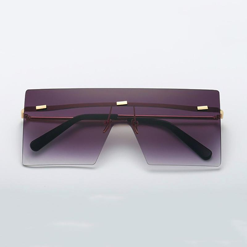 Ultra-edgy Square Flat Sunglasses Sunglasses 01