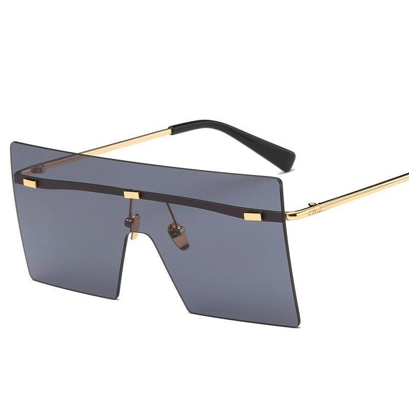Ultra-edgy Square Flat Sunglasses Sunglasses Loom Rack