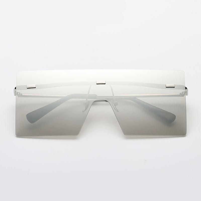 Ultra-edgy Square Flat Sunglasses Sunglasses Loom Rack White
