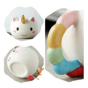 Unicorn Cartoon Rainbow Mug Mugs Loom Rack