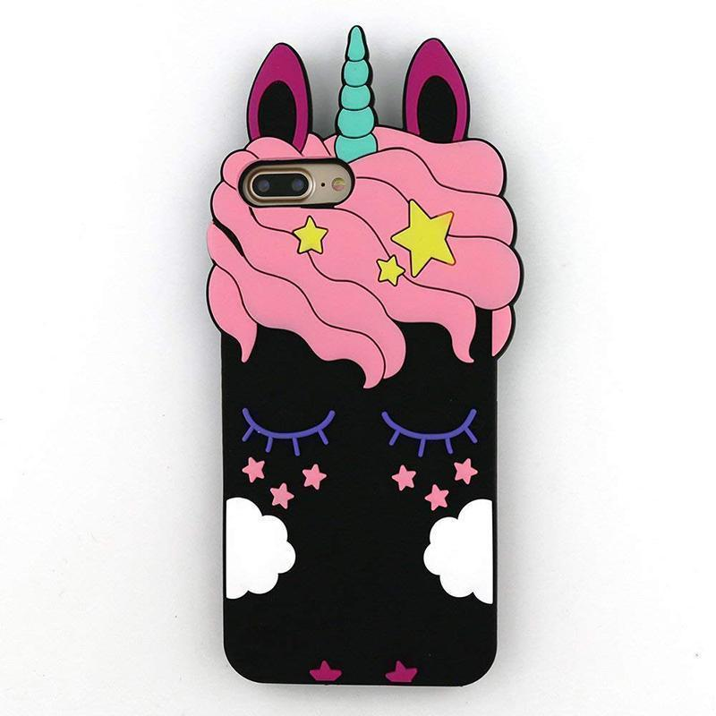 Unicorn iPhone Case - For iPhone X / SE / 5C / 5S / 6 / 6 Plus / 6S / 7 / 8 Plus Phone Cases Loom Rack Unicorn Style - 3 For iPhone 4 4S