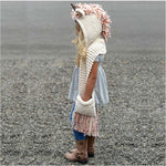 Unicorn Winter Hat Scarf Wrap With Hand Pockets Baby Accessories Loom Rack