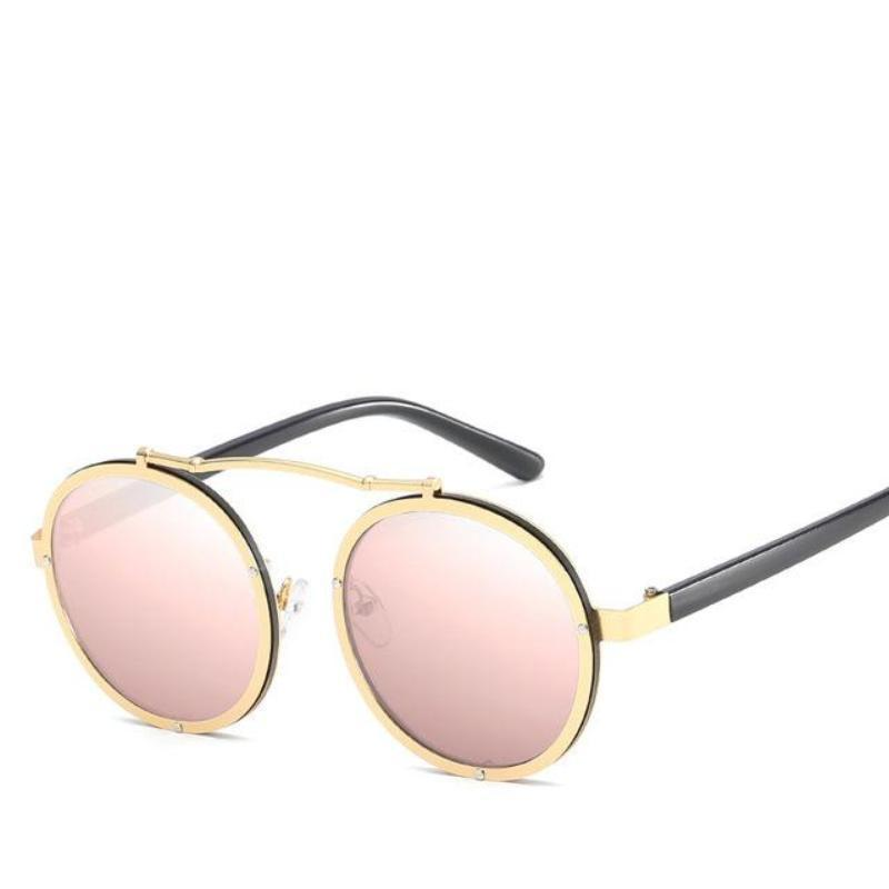 Unisex Steam Punk Driving Sunglasses Sunglasses Loom Rack Pink