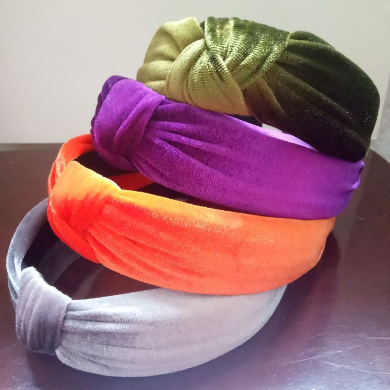 Velvet Knotted Twist Headband Headbands Loom Rack