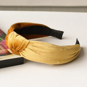 Velvet Knotted Twist Headband Headbands Loom Rack Gold