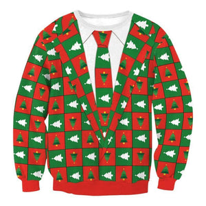 Very Ugly Christmas Sweater - Faux Christmas Suit Christmas Ugly Sweaters Loom Rack Faux Christmas Suit S