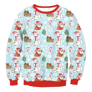 Very Ugly Christmas Sweater - Snowman Christmas Ugly Sweaters Loom Rack Snowman S