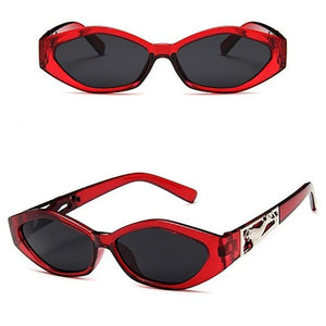 Vintage Cat Eye 3D Anti-UV Sunglasses Sunglasses Red All Grey