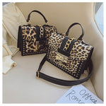 Vintage Leopard Crossbody Flap Bag with Top Handle Bags Loom Rack