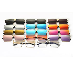 Vintage Oversized Square Mirror Sunglasses Sunglasses Loom Rack