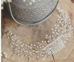 Vintage Pearl Bridal Hair Accessory Hair Jewelry Loom Rack