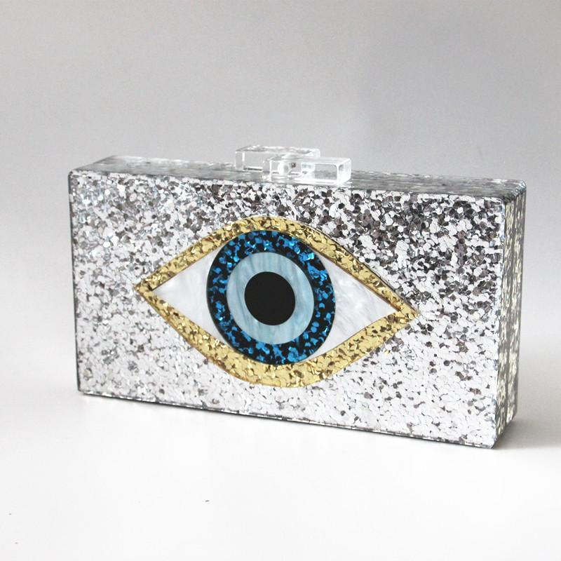Vintage Sequin Eye Bag Evening Bags Loom Rack