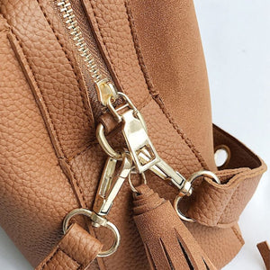 Vintage Tassel Adorned Bucket Crossbody Messenger Bag Shoulder Bags Loom Rack