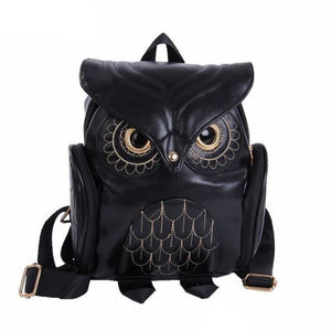 Whimsy Owl Embossed Backpack Backpacks Loom Rack Black