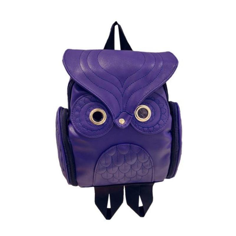 Whimsy Owl Embossed Backpack Backpacks Loom Rack Blue