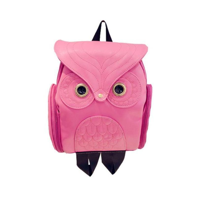 Whimsy Owl Embossed Backpack Backpacks Loom Rack Hot Pink