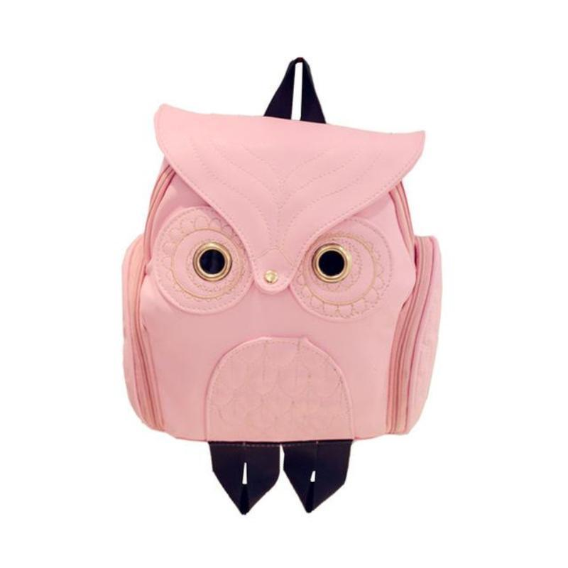 Whimsy Owl Embossed Backpack Backpacks Loom Rack Pink