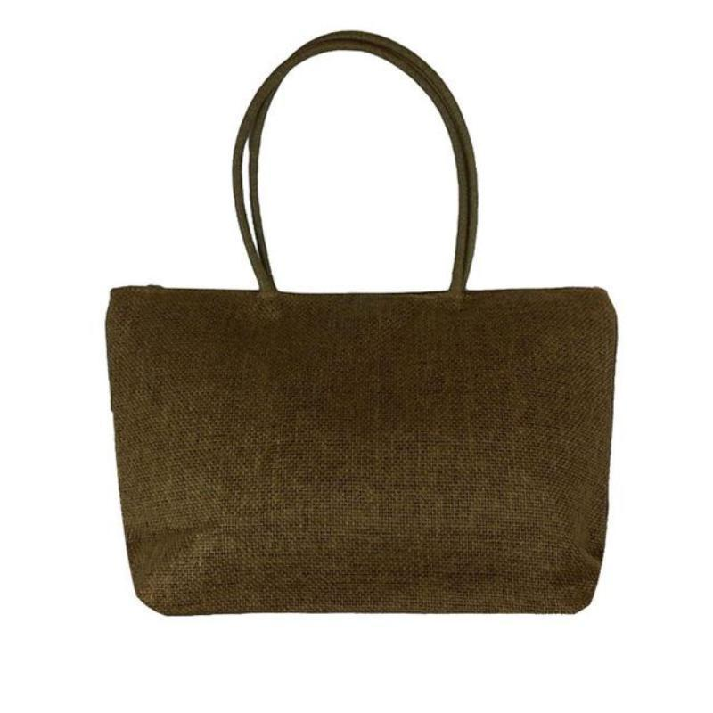 Women's Woven Straw Tote Bag - Perfect for the Beach! Rattan Bags Loom Rack Brown