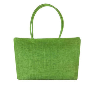 Women's Woven Straw Tote Bag - Perfect for the Beach! Rattan Bags Loom Rack Green