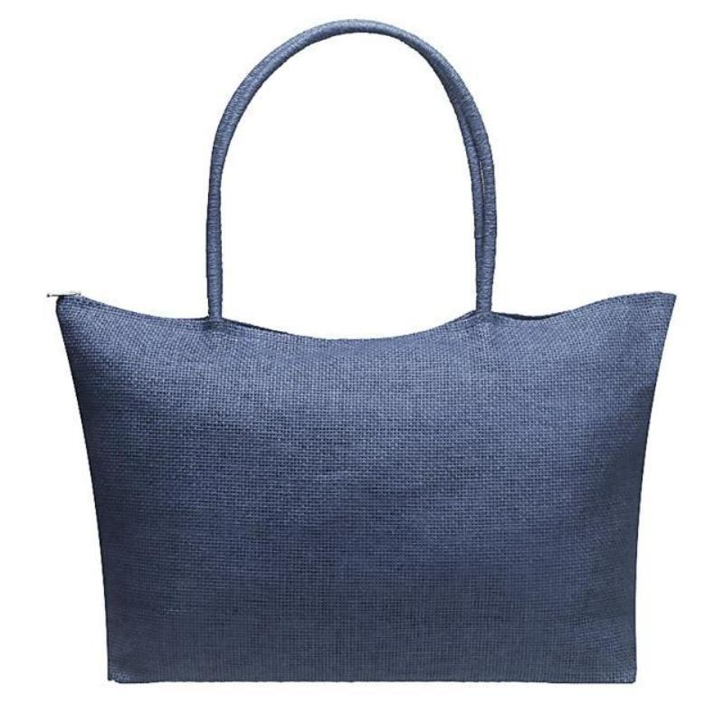 Women's Woven Straw Tote Bag - Perfect for the Beach! Rattan Bags Loom Rack Light Blue