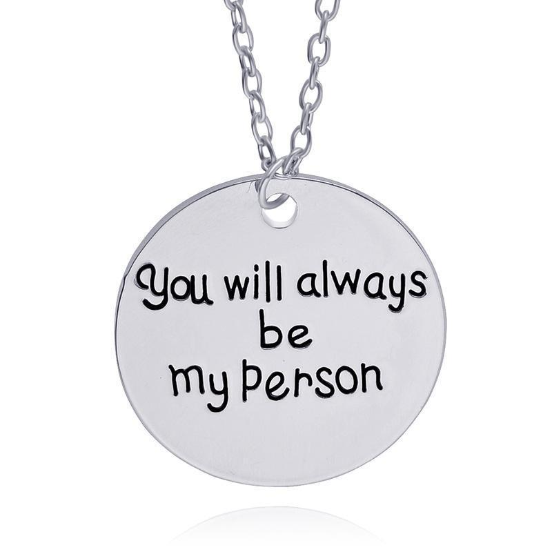 You're my Person Necklace Set of 2 Necklaces Loom Rack