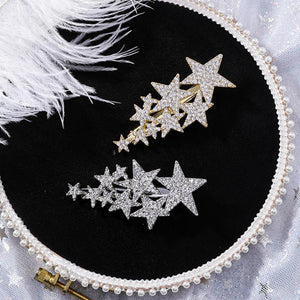 Zirzon Rhinestone Five-Star Hair Clips HairClips Loom Rack