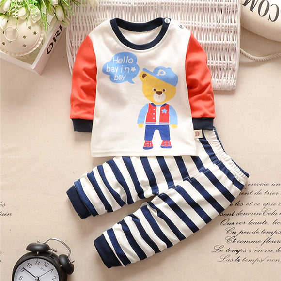 Striped Pants 2pcs Set - Baby Zax