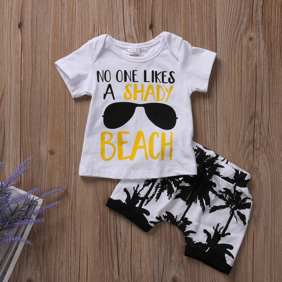 2 Pieces Beach Set Outfit Toddler - Baby Zax