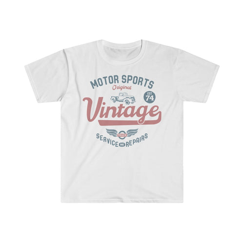 Vintage Motor Racing T Shirt - Summer Short Sleeves Top