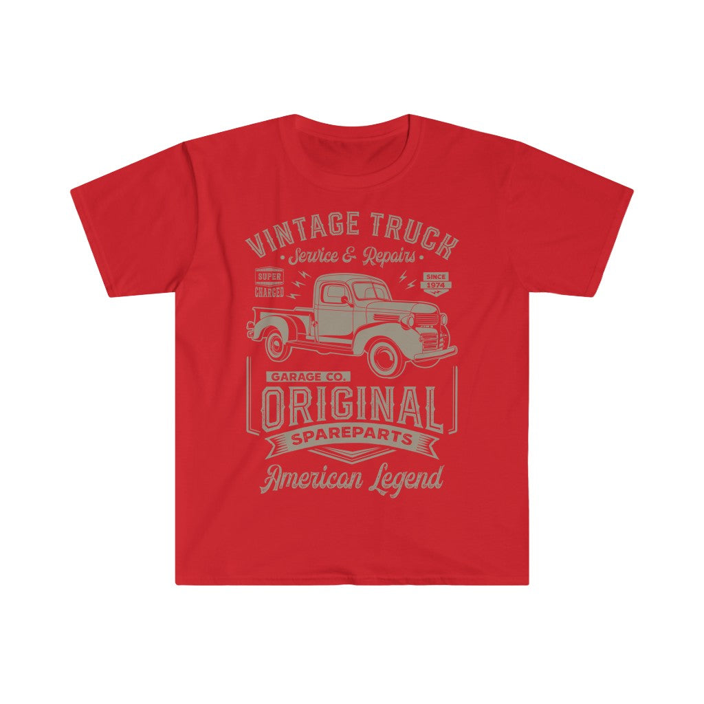 Original Vintage Truck T Shirt - Summer Short Sleeves Top