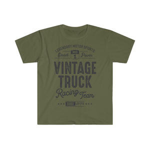 Vintage Truck Racing Top - Summer Short Sleeves T Shirt