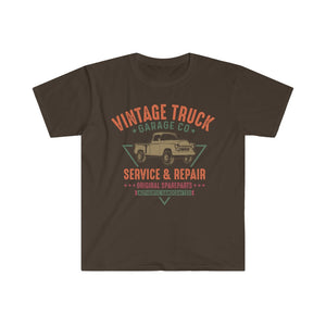VINTAGE Truck T Shirt - Short Sleeves Top - Steelcitylids.com