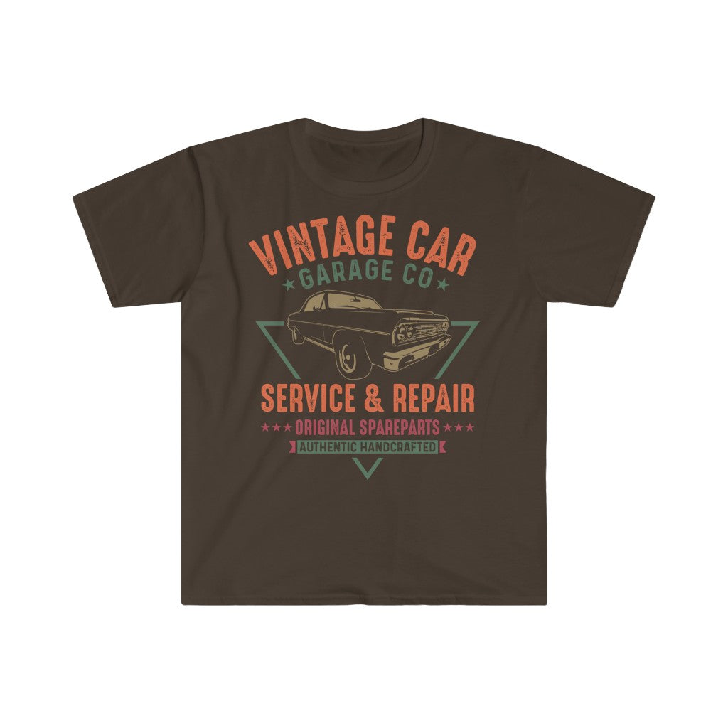 Vintage Car T Shirt - Summer Short Sleeves Top - O Neck Tee 2021