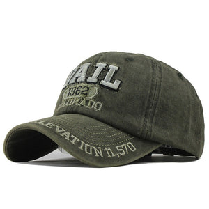 VAIL Baseball Cap - Adjustable Strap Hat For Men's