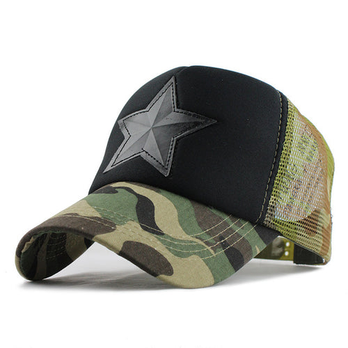 CAMO STAR Hat - Men's Baseball Cap Online - Steelcitylids.com