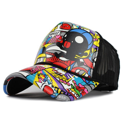 CARTOON Print Cap - Men's Funny Hat Online - Steelcitylids.com