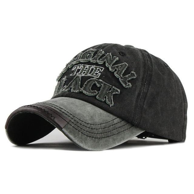 Original Black Baseball Cap - Adjustable Strap Hat For Men's