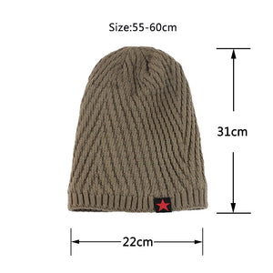 Knitted Slouch Cap - Winter Wool  Hat 2020 - Steelcitylids.com
