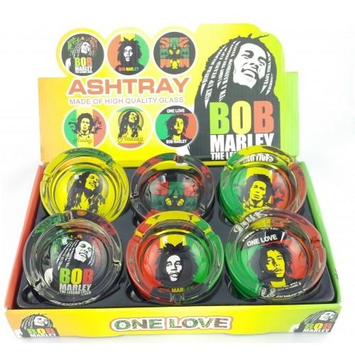 Glass Ashtray - Bob Marley