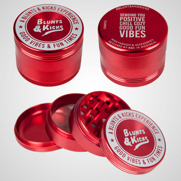 """The Connoisseur"" - 4pcs 2.5"" - Grinder - Ruby Red"