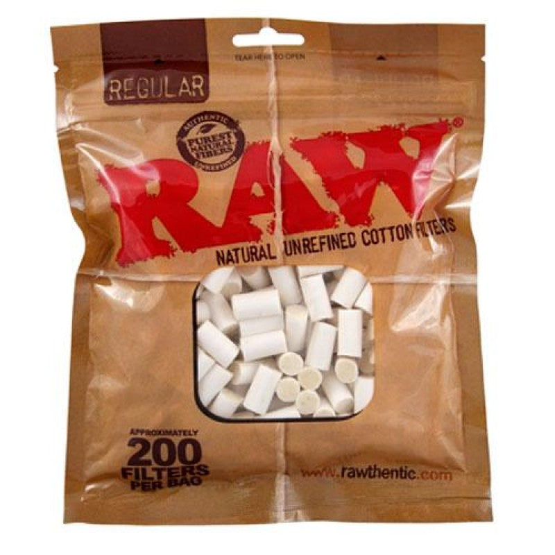 RAW 100% COTTON FILTERS, BAG/200