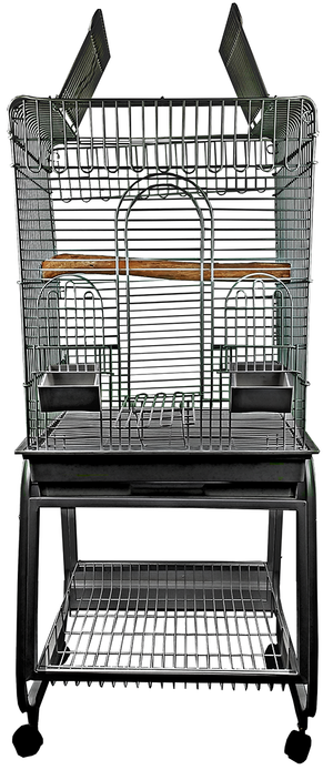 "22"" Convertible Play Top Cage w/Plastic Base"