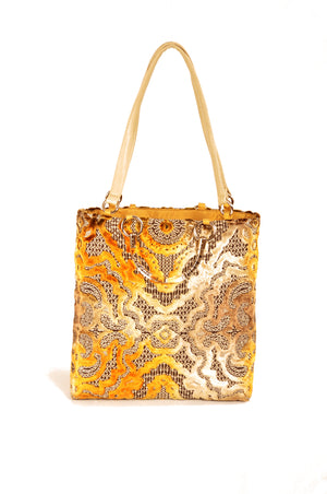 Baroque Gold  Large Tote - Modern Choices