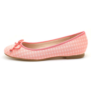 Cross Pattern Ballerina (Pink) - Modern Choices
