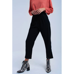 Black pants with ruffles and laces - Modern Choices
