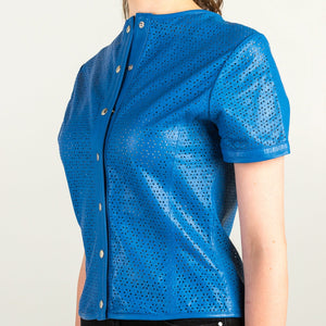 Blue Leather Top - Modern Choices