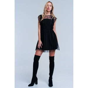 Black midi dress with lace - Modern Choices