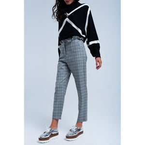 Gray tartan pattern pants - Modern Choices