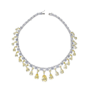 Canary Yellow Vanderbilt Necklace - Modern Choices