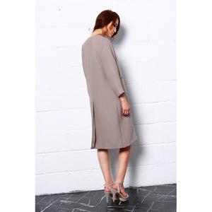 Embrace Nature Long Coat In Beige - Modern Choices